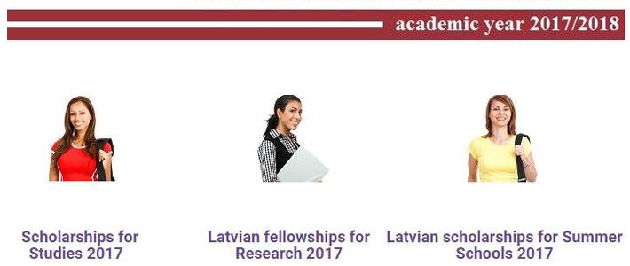 Стипендий для учёбы в бакалавриате, магистратуре и ведения научной работы, а также участия в летних школах в Латвии